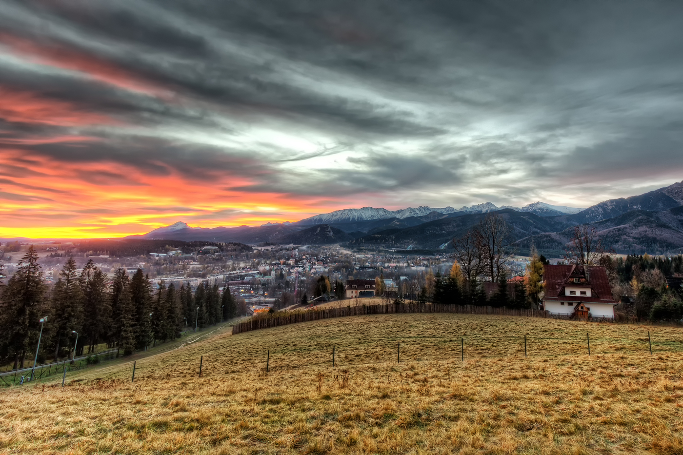 Sunrise at Tatra Mountains in Zakopane