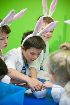 Children during Easter workshops